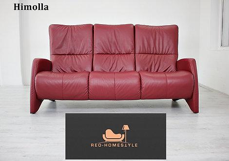 Himolla Longlife Designer Dreisitzer Sofa Couch Leder Bordeaux