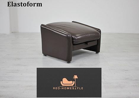 Elastoform Designer Hocker Sofa Funktion Pouff Braun Leder