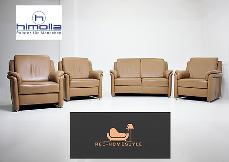 Himolla Designer 3X Sessel Set 2er Sofa Garnitur Dickleder