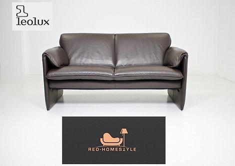 Leolux Bella Bora Designer Zweisitzer Braun Leder Sofa Couch