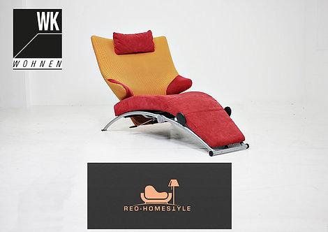 WK Wohnen Designer Sessel Liege Relax Stoff Funktion Sitz