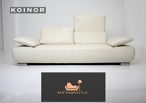 Koinor Volare Designer Sofa Dreisitzer Leder Beige Funktion Couch