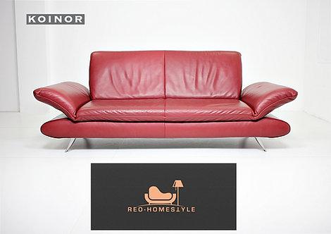 Koinor Rossini Designer Dreisitzer Bordeaux Leder Couch Sofa