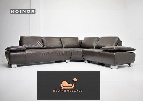 Koinor Volare Designer Sofa Ecksofa Leder Braun Funktion Couch