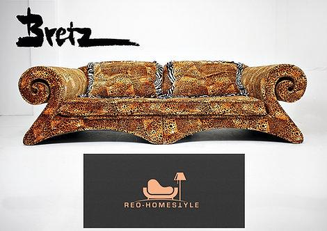 Bretz Mammut Designer Kult Sofa Leopard Look XXL Stoff Kissen