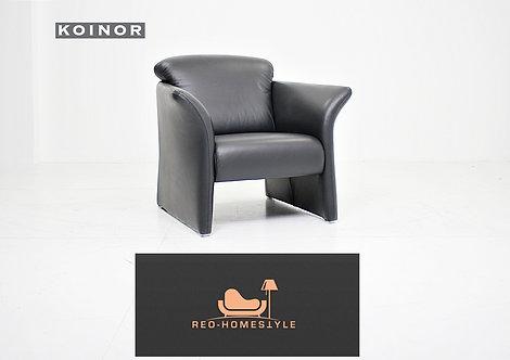 Koinor Designer Sessel Leder Schwarz Couch Sitz Wohnzimmer Sofa