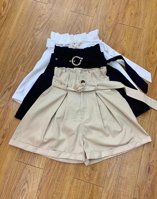 Short Cinturon perlas