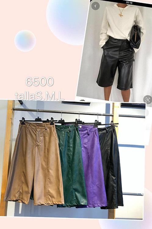 Pantalón cullotte polipiel