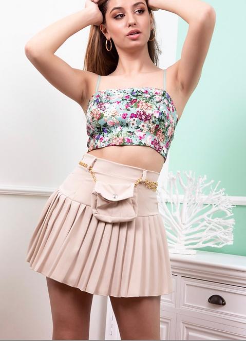 Falda plisada riñonera