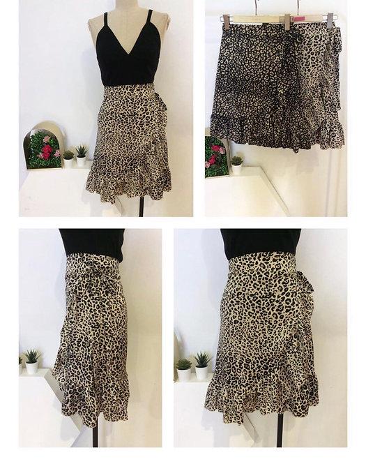 Falda ajustable leopard