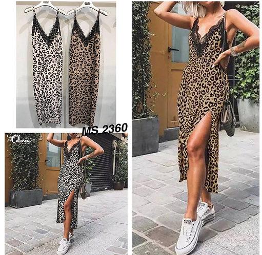 Vestido lencero leopardo