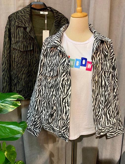 Cazadora denim zebra