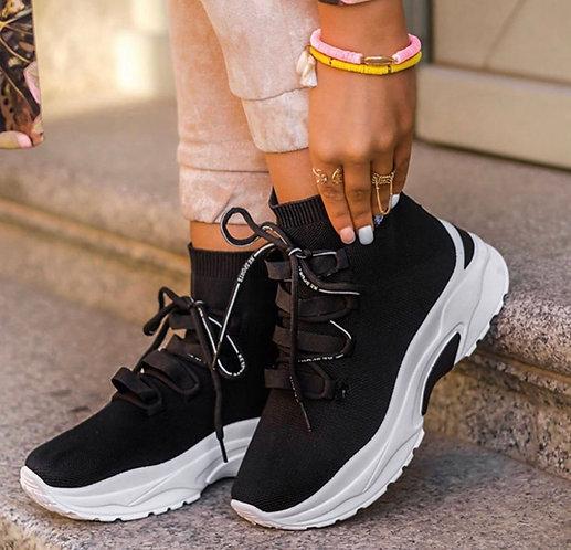 Deportivas calcetin cordones