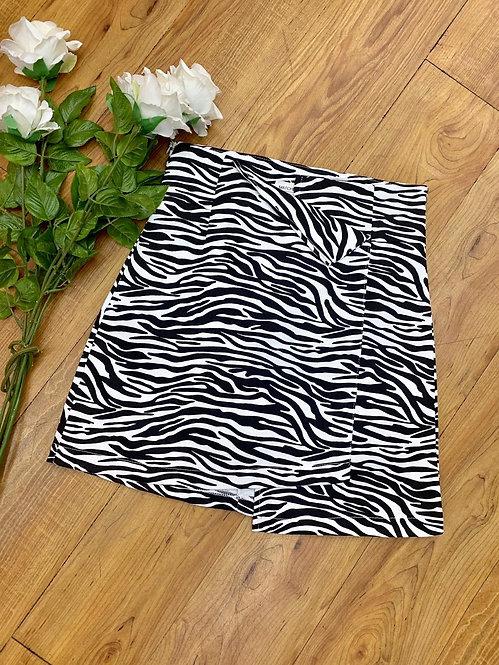 Falda vaquera zebra