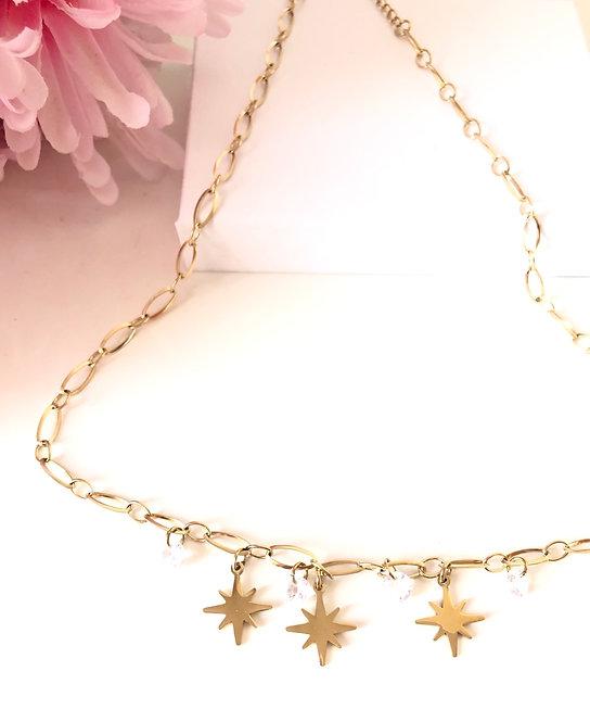 Gargantilla estrella brillitos