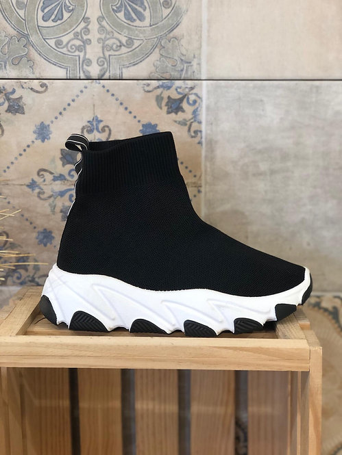 Deportivas calcetín black