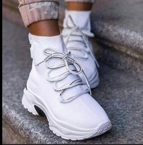 Deportivas calcetin white