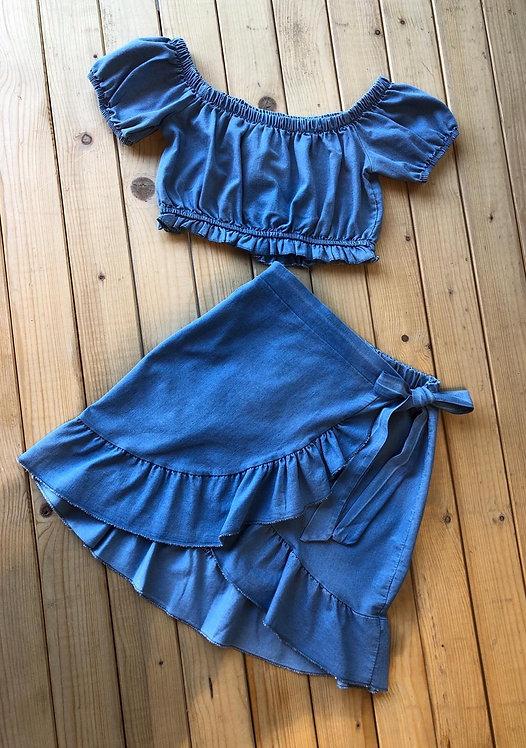 Falda cruzada ajustable