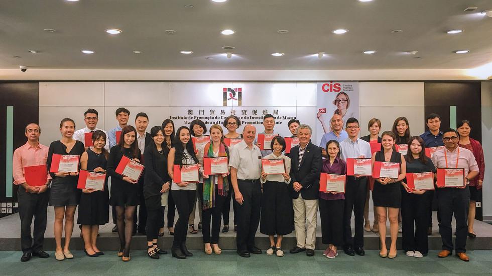 澳門會獎盛事協會與國際獎勵旅游專業協會(SITE) 聯合開辦認証會獎專業(CIS)課程