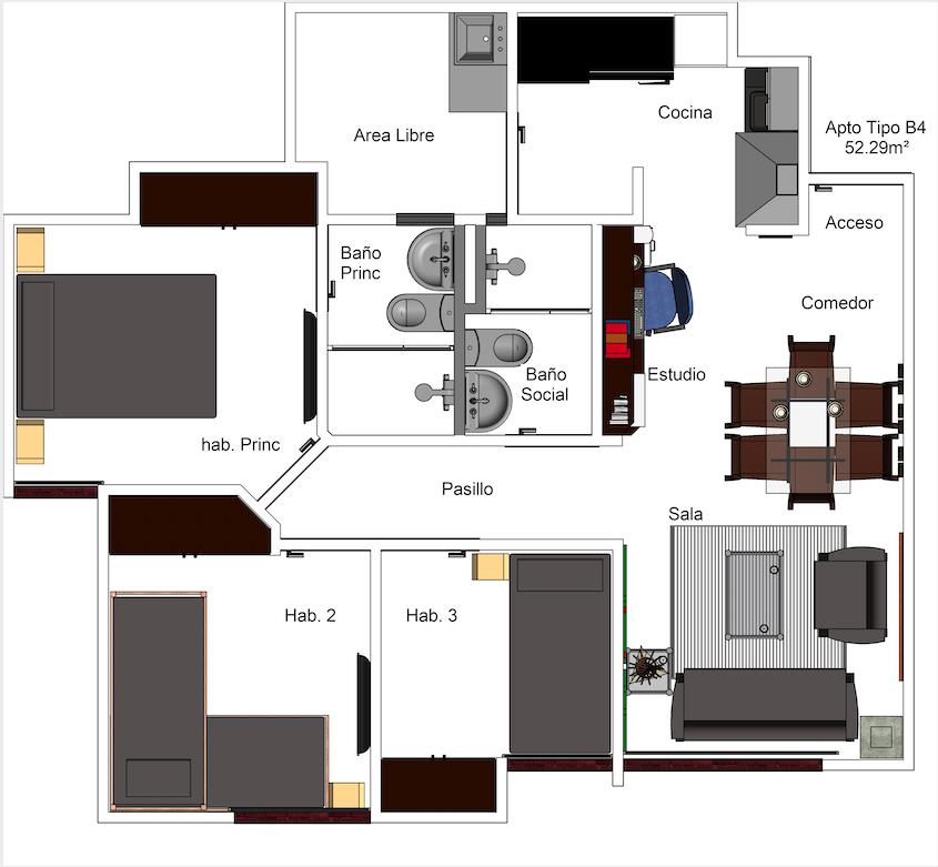 Apartamento Tipo B4