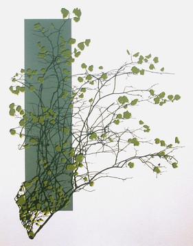 """Spring is in the Air"" Kirsti Aasheim/ Screenprinting/ 42x32,5 cm"