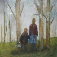 """""""On The Way Home"""" Kirsti Aasheim/ oil painting/ 60x60 cm"""