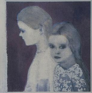 """The secret in her eyes 4"" Kirsti Aasheim/ Screenprinting/ 28x28 cm"