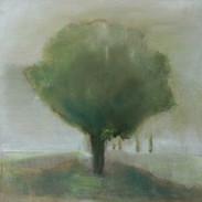 """Standing Here Alone 4 "" Kirsti Aasheim/ painting/ 30x30 cm"
