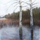 """Rainy October""  Kirsti Aasheim/ acrylic on mdf/ 30x30 cm"