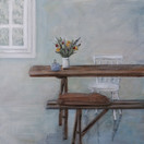 """Early morning""  Kirsti Aasheim/ acrylic on mdf/ 30x30 cm"