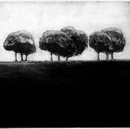 """""""Constructing A Memory"""" (black variant) Kirsti Aasheim/ etching/ 20,5x22,5 cm"""