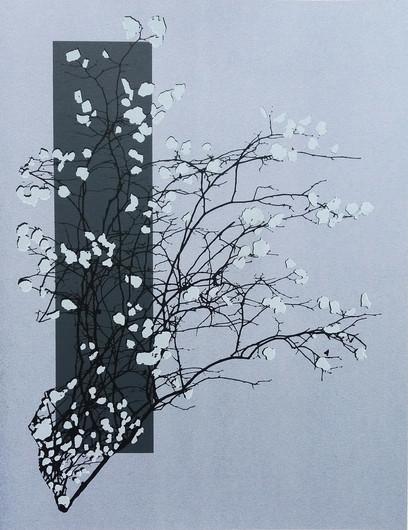 """Wintertime"" Kirsti Aasheim/ Screenprinting/ 42x32,5 cm"