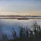 """Waterfront""  Kirsti Aasheim/ acrylic on mdf/ 30x30 cm"