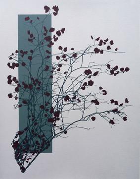 """Autumn Leaves"" Kirsti Aasheim/ Screenprinting/ 42x32,5 cm"