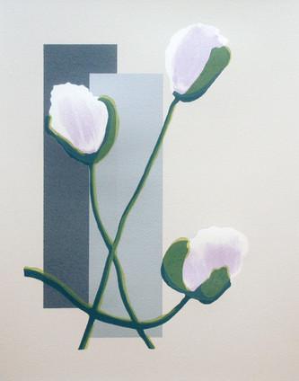 """Transient Pleasure"" (purple variant) Kirsti Aasheim/ Screenprinting/ 42x32,5 cm"