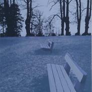 """Two Of A Kind"" (blue variant) Kirsti Aasheim/ Screenprinting/ 45x33 cm"