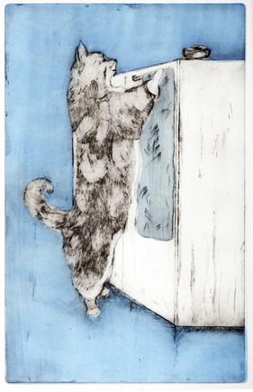"""Something For Me"" Kirsti Aasheim/ etching/ 17,5x28 cm"