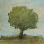 """Standing Here Alone  3"" Kirsti Aasheim/ painting/ 30x30 cm"