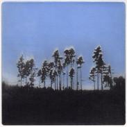 """We Are Still Here"" (blue variant) Kirsti Aasheim/ etching/ 18x18cm"