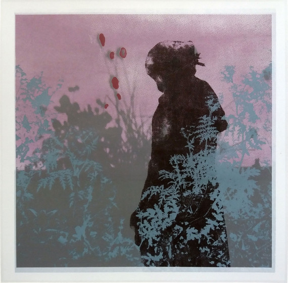 """Melancholia"" Kirsti Aasheim/ Screenprinting/ 28,5x28,5cm"