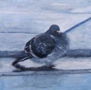 """""""Taking A Bath """" Kirsti Aasheim/ painting/ 50x50 cm"""