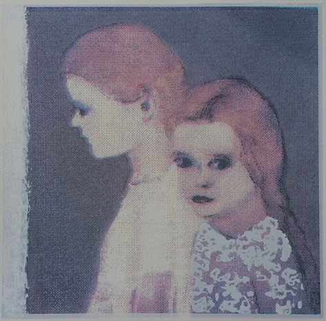 """The secret in her eyes 2"" Kirsti Aasheim/ Screenprinting/ 28x28 cm"