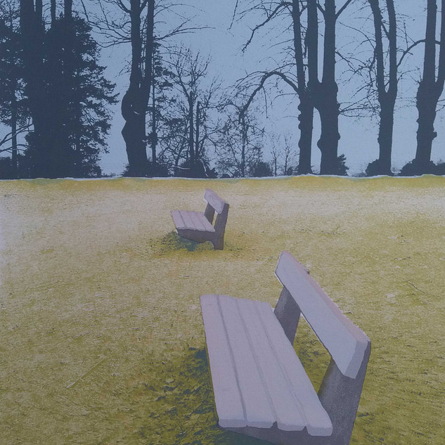 """Two Of A Kind"" (green variant) Kirsti Aasheim/ Screenprinting/ 50,5x37,5cm"