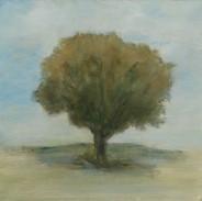 """Standing Here Alone  1"" Kirsti Aasheim/ painting/ 30x30 cm"