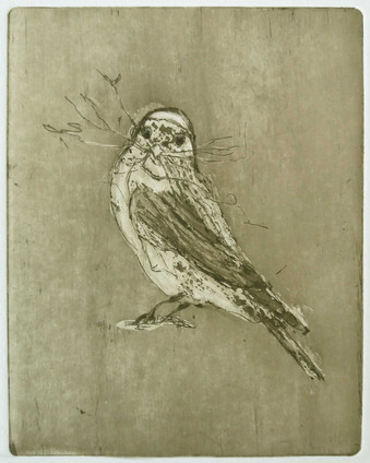"""Prepare 2"" Kirsti Aasheim/ etching/ 12x15 cm"