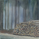 """Waiting"" Kirsti Aasheim/ acrylic on mdf/ 30x30 cm"
