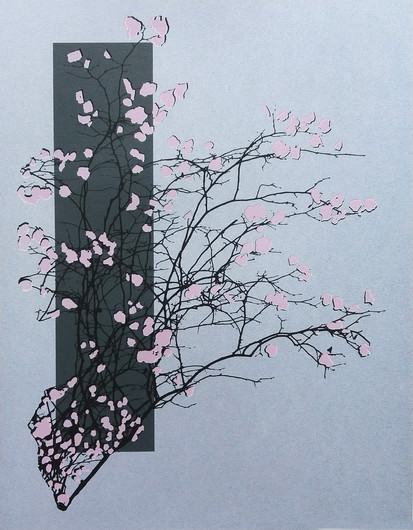 """The Season Of Summer""  Kirsti Aasheim/ Screenprinting/ 42x32,5 cm"