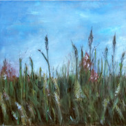 """That Summer Feeling 1"" Kirsti Aasheim/ painting/ 60x60 cm"