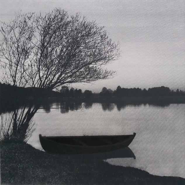 """""""I´s Oh So Quiet"""" Kirsti Aasheim/ Screenprinting/ 38x38 cm"""