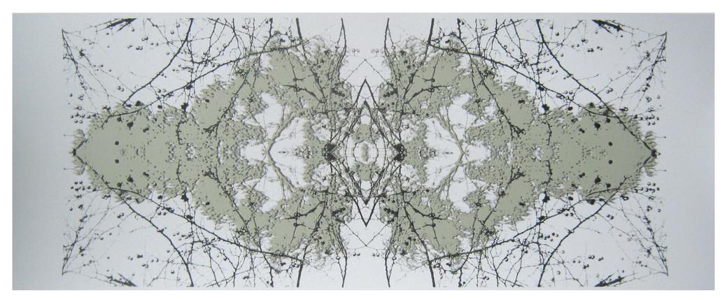 """Connected 1"" Kirsti Aasheim/ Screenprinting/ 58x24,5 cm"